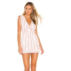 BCBG PINK AND WHITE ROMPER